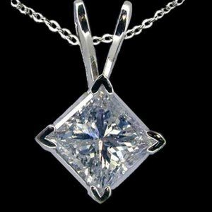 1.25 ct. Diamond G SI1 solitaire pendant necklace